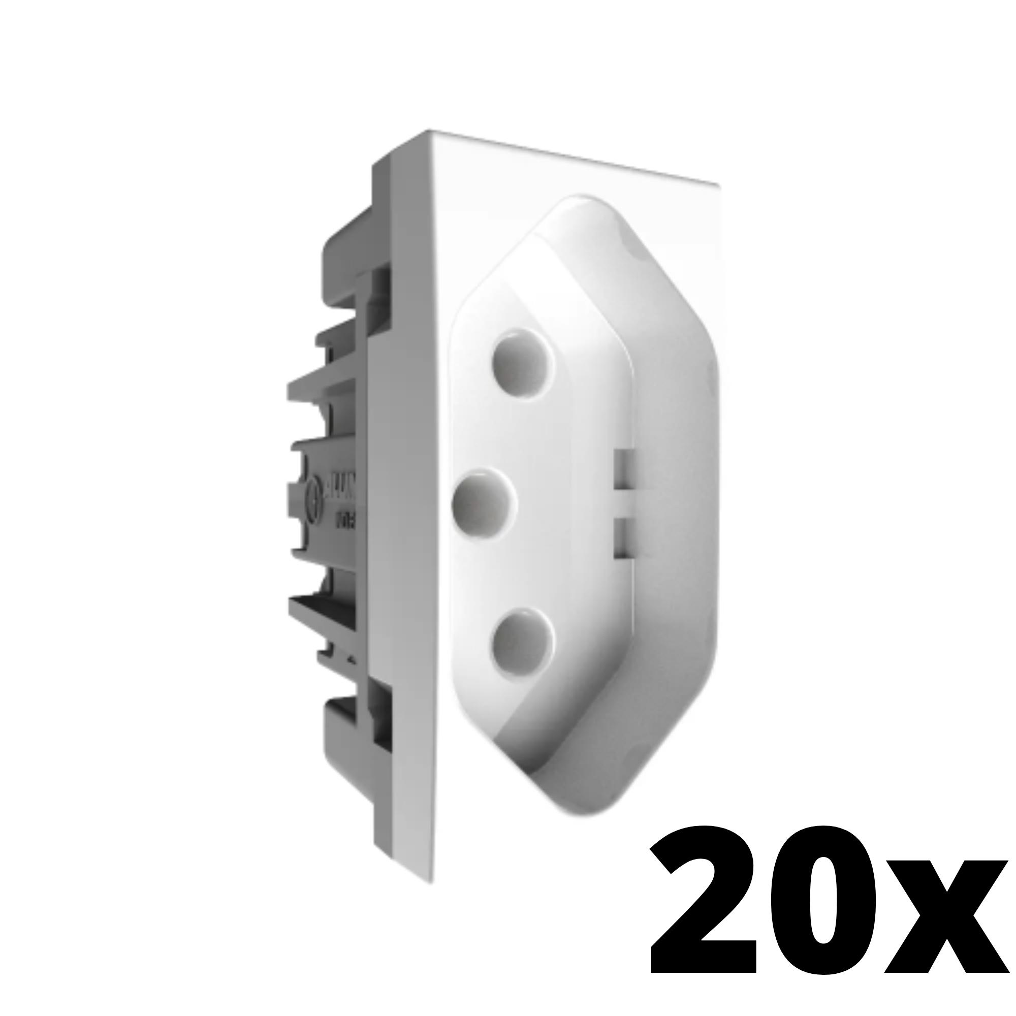 Kit 20 Inova Pró Módulo de Tomada 10A