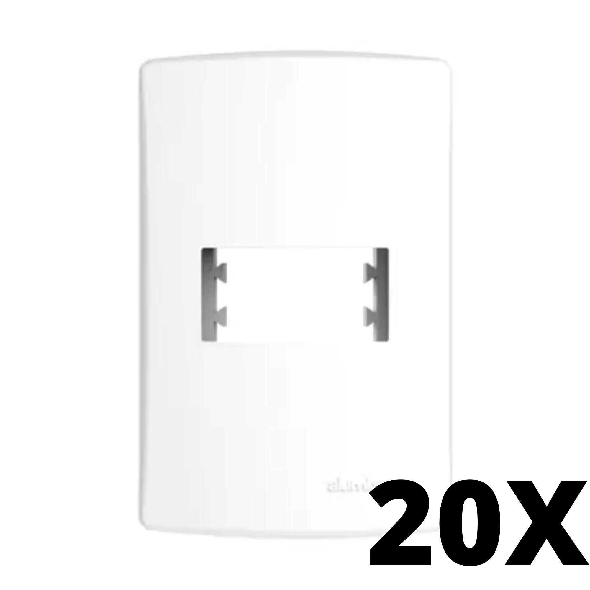 Kit 20 und Alumbra Bianco Pró Placa 4x2 1 Seção