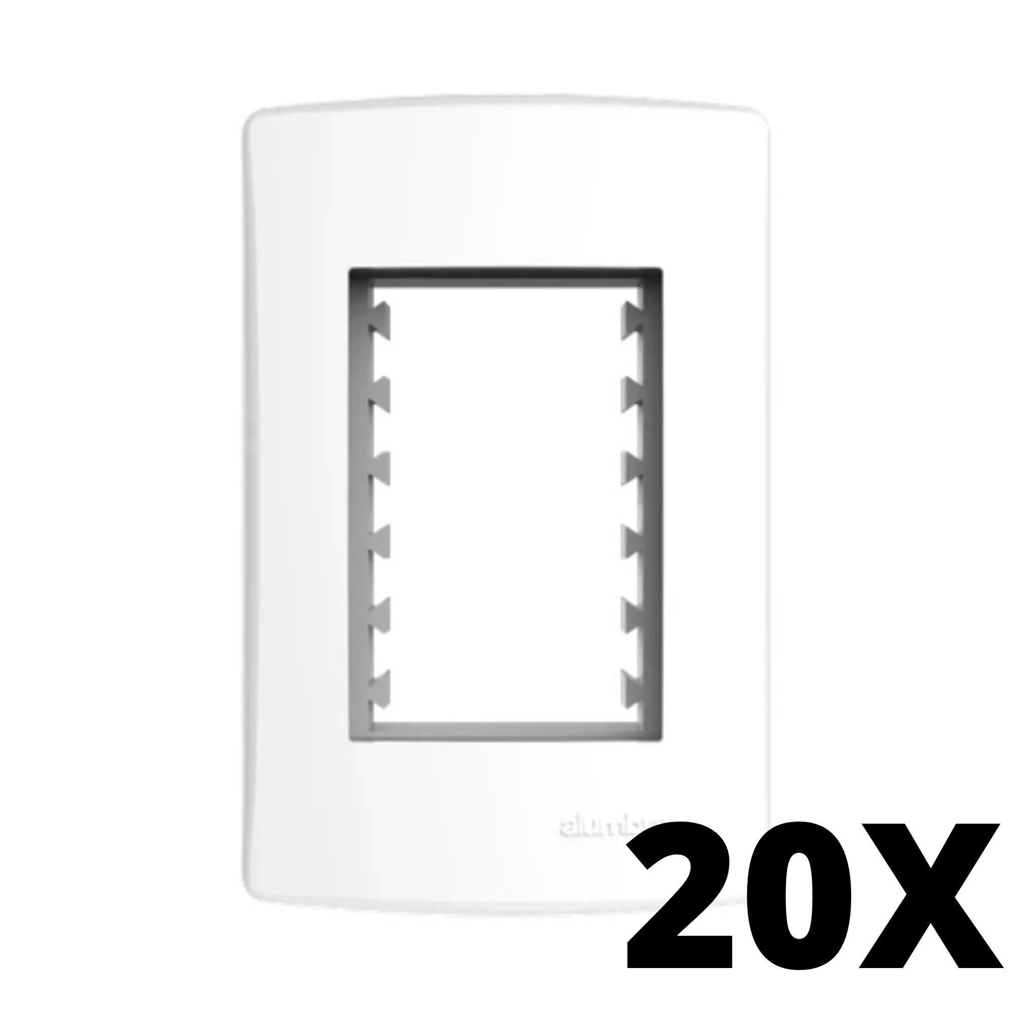 Kit 20 und Alumbra Bianco Pró Placa 4x2 3 Seções