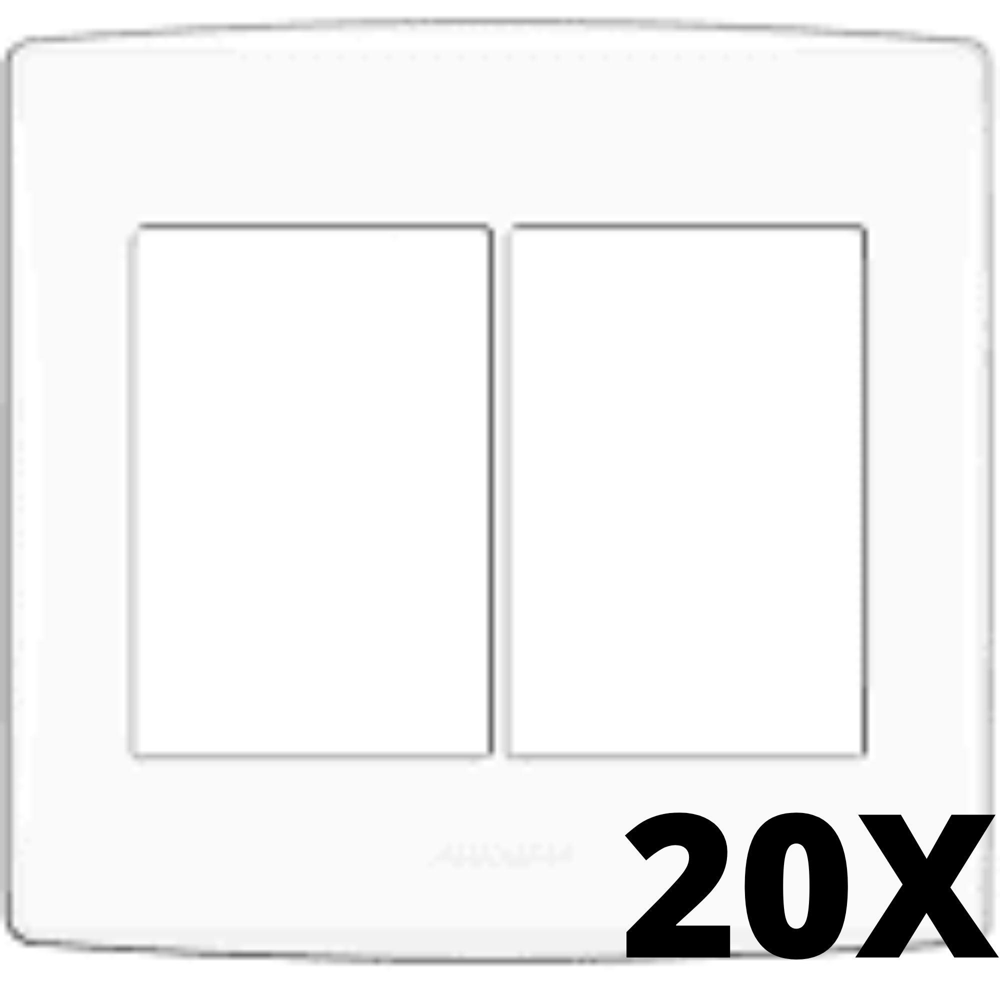 Kit 20 und Alumbra Bianco Pró Placa 4x4 3 Seções + 3 Seções