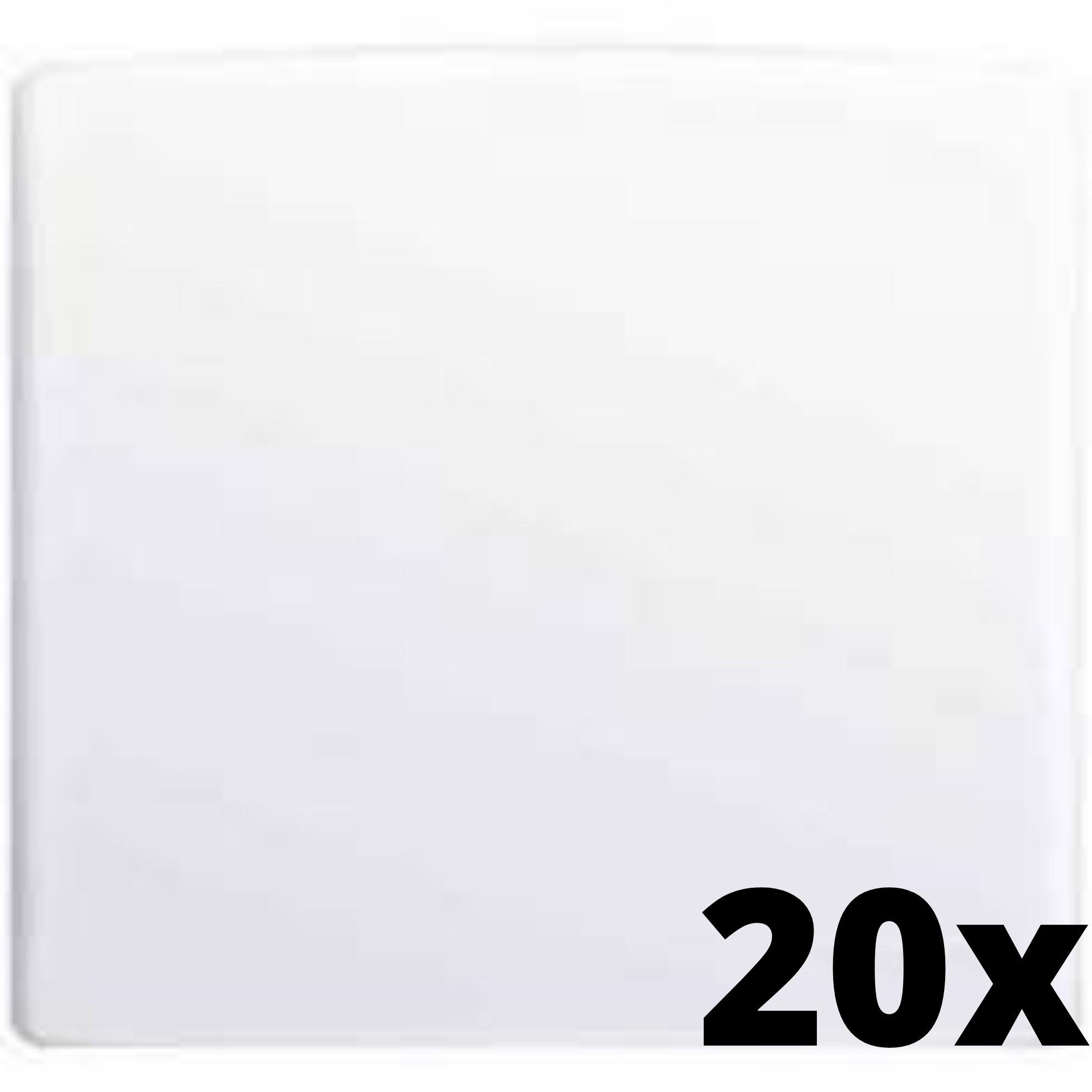 Kit 20 und Alumbra Bianco Pró Placa 4x4 Cega