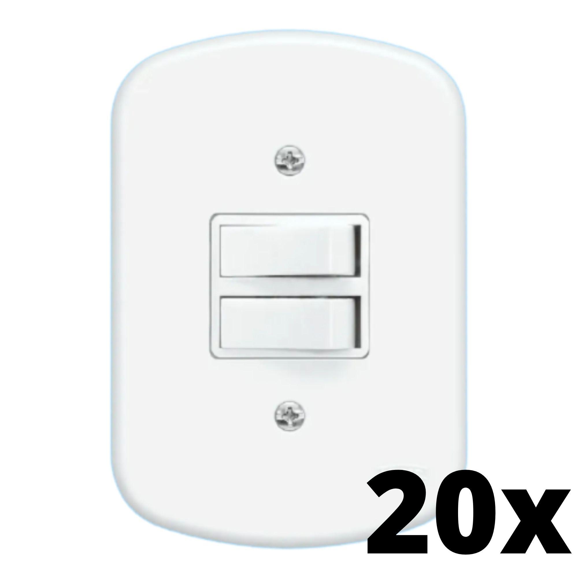 Kit 20 und Blanc 1Seç Interrupt Simples+1Seç Interrupt Paralelo + Placa
