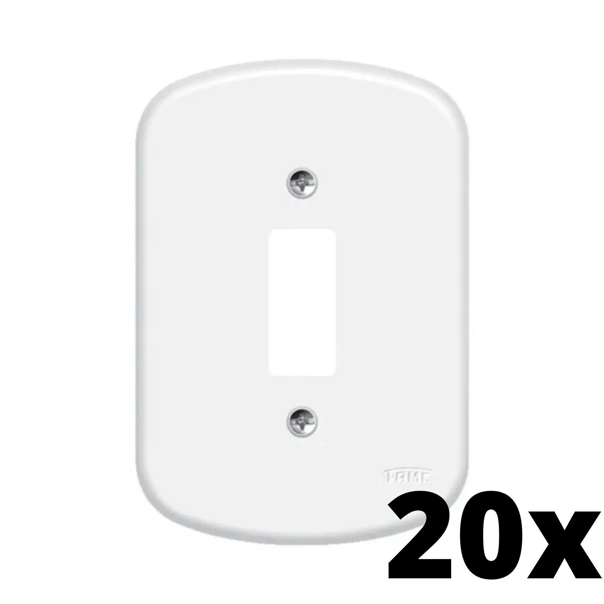 Kit 20 und  Blanc Placa 4x2 1 Seção