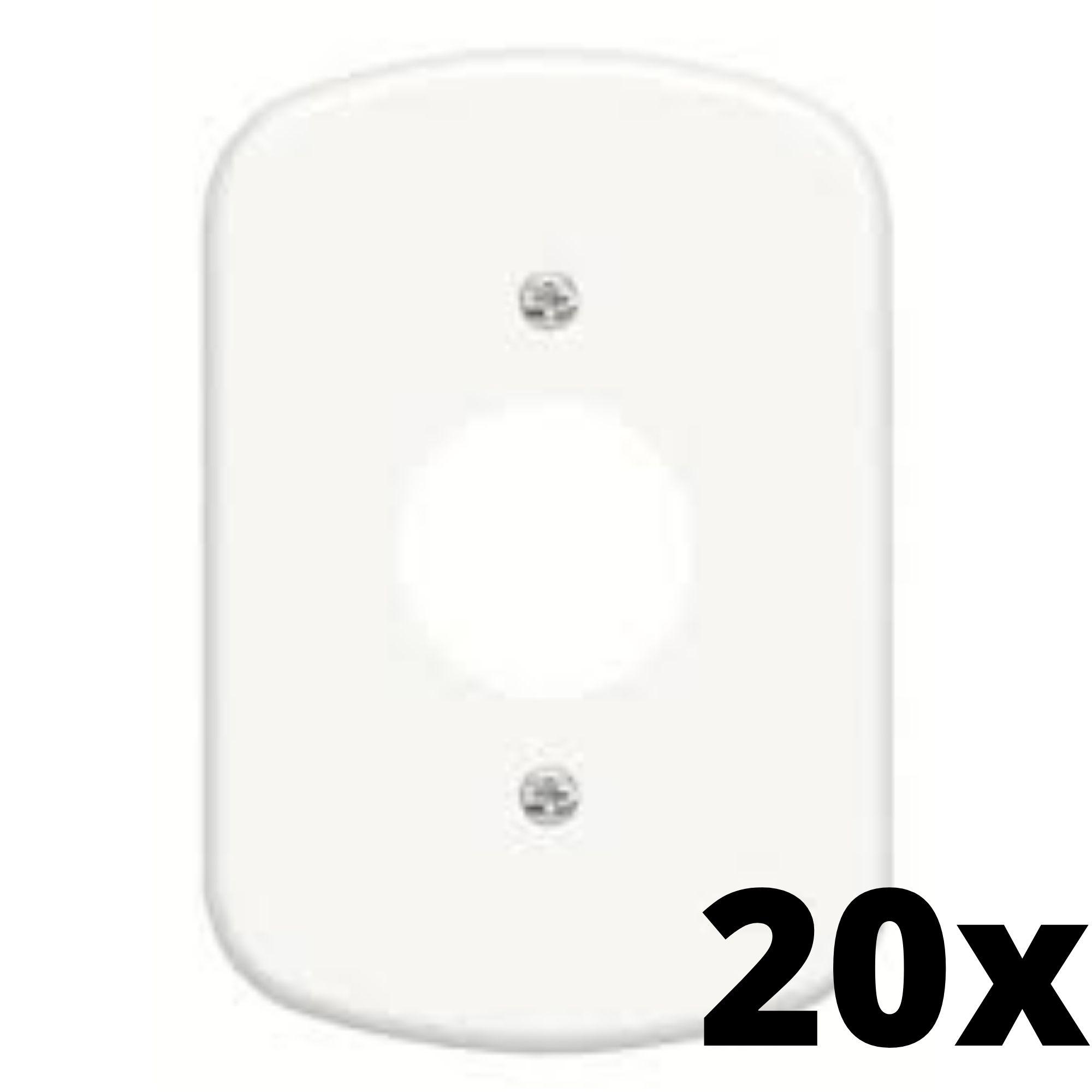 Kit 20 und  Blanc Placa 4x2 1 Seção Para Tomada