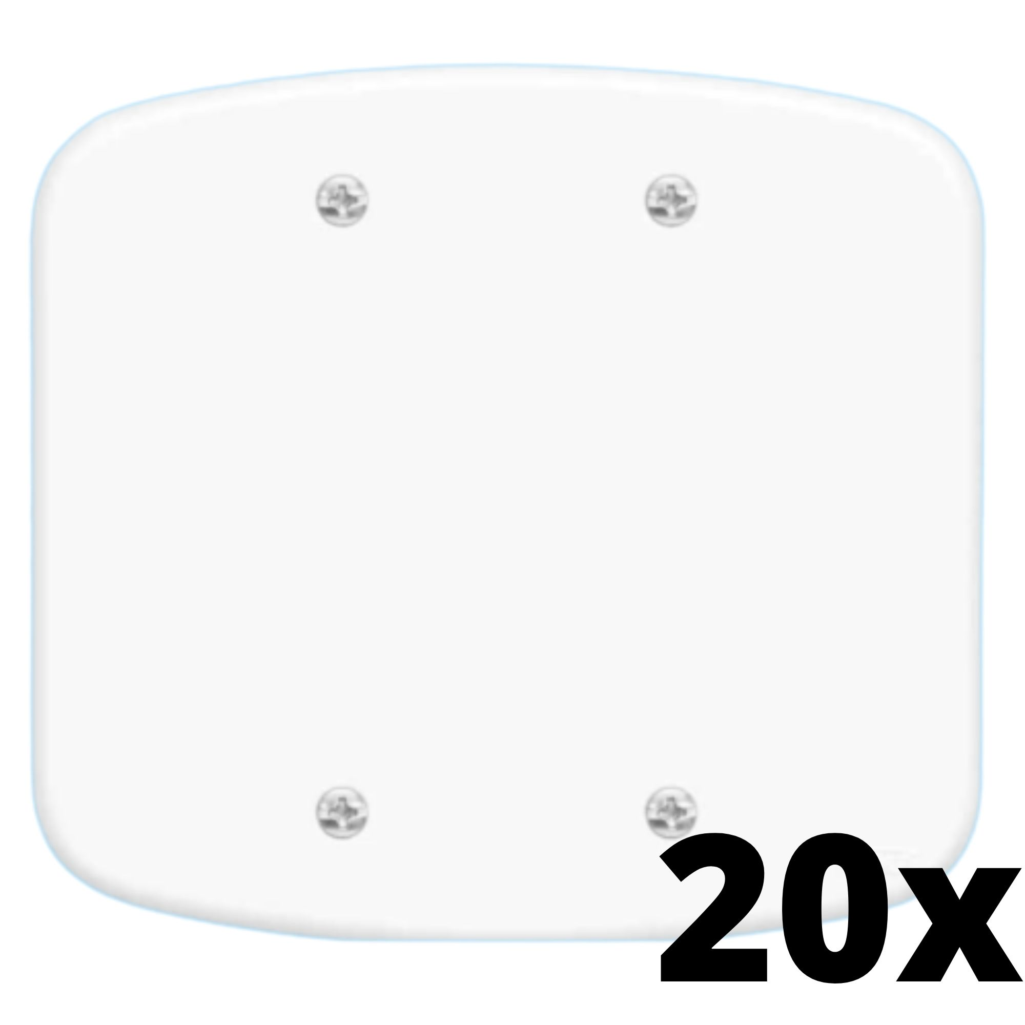Kit 20 und Blanc Placa 4x4 Cega