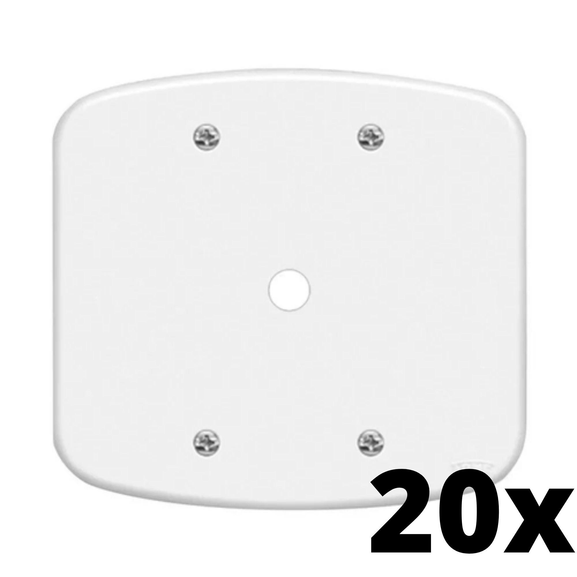 Kit 20 und Blanc Placa 4x4 Com Furo
