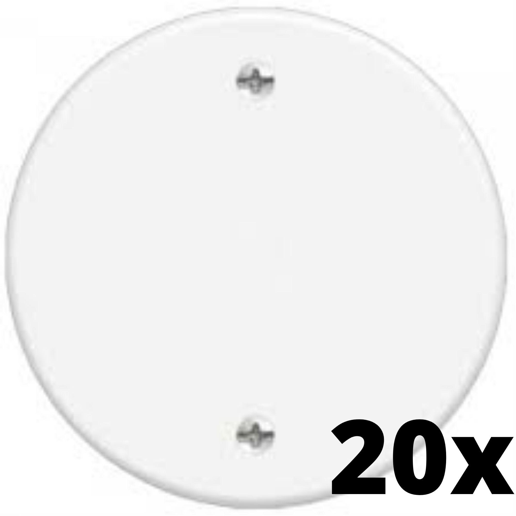 Kit 20 und Blanc Placa Redonda Cega 3 Cm
