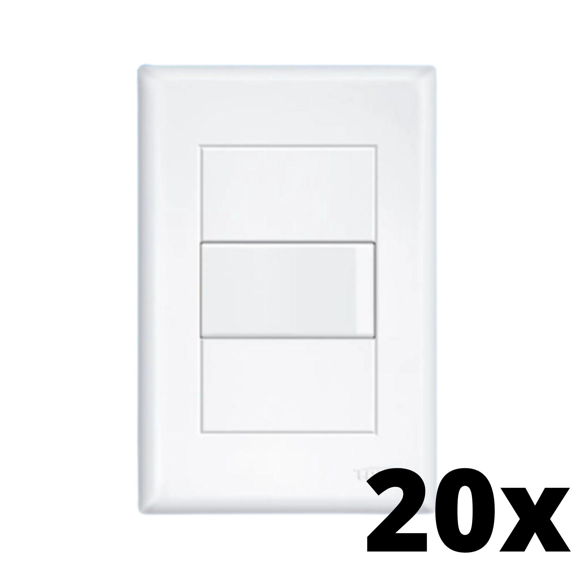 Kit 20 und Evidence 1 Seção de Interruptor Simples Com Placa
