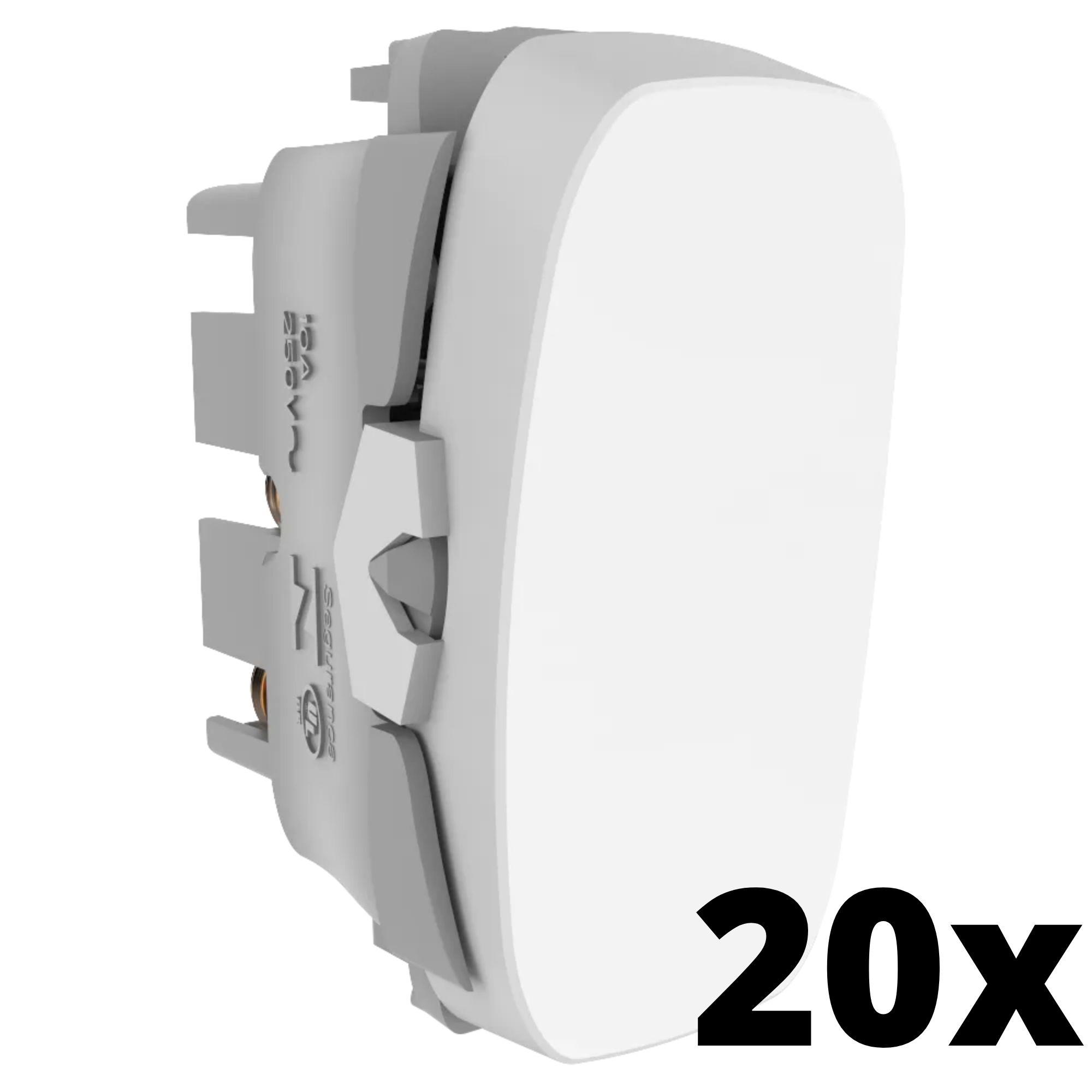 Kit 20 und Gracia Módulo de Interruptor Simples