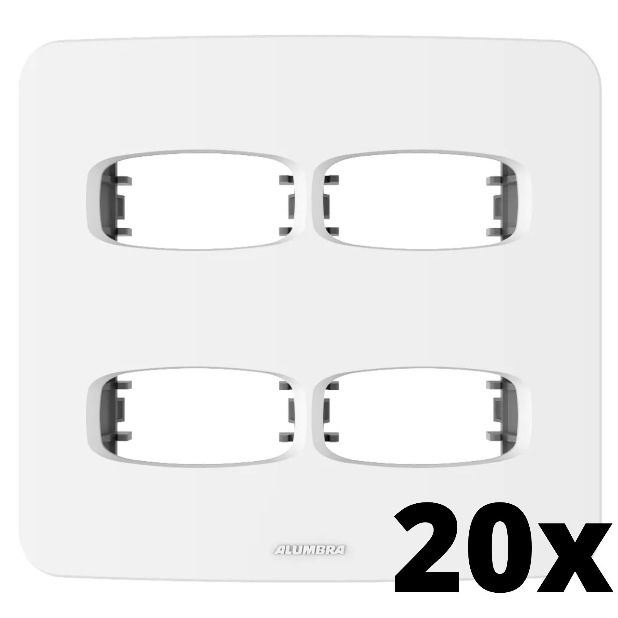 Kit 20 und Gracia Placa 4x4 2 Seções + 2 Seções