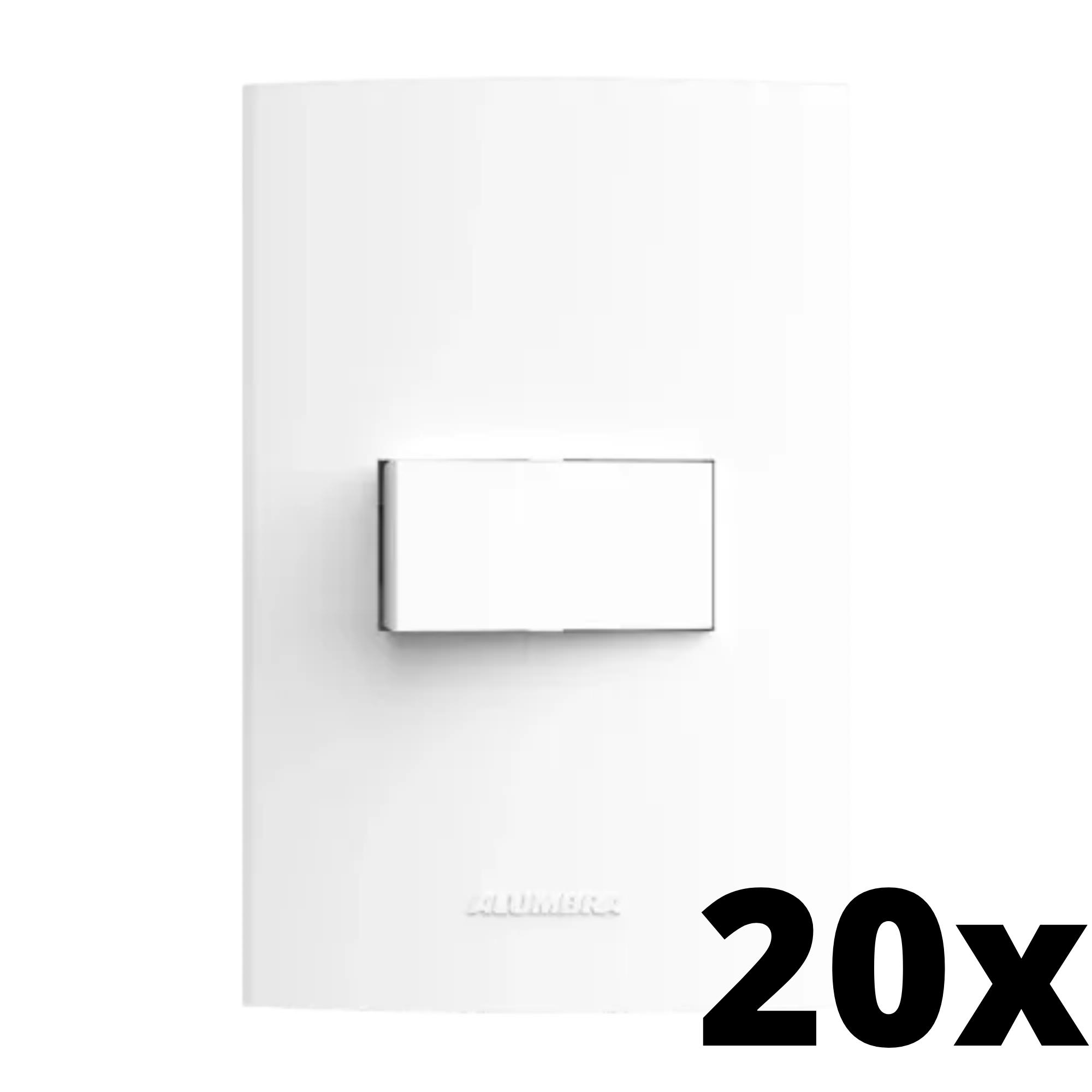 Kit 20 und Inova Pró 1 Seção de Interruptor Simples Com Placa