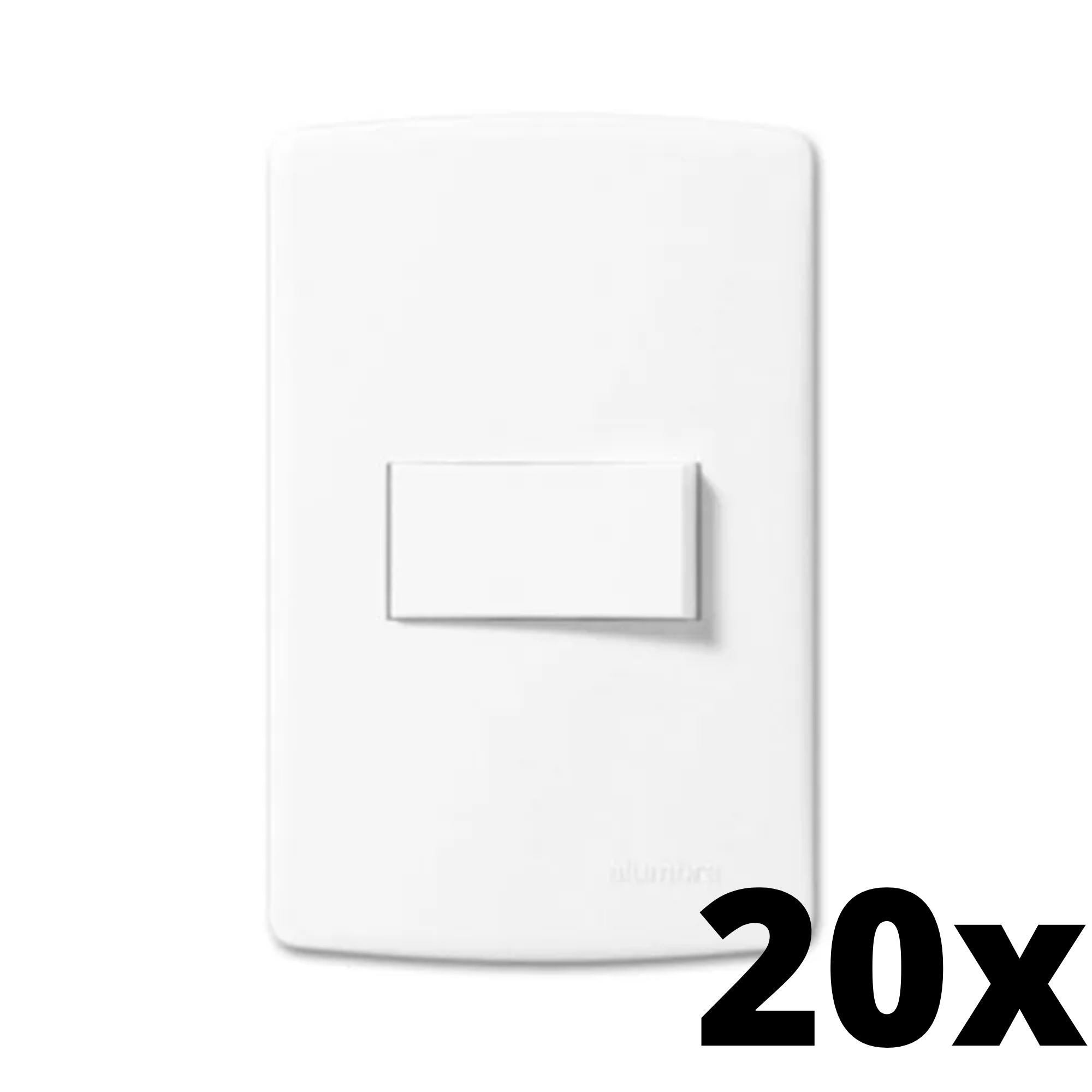 Kit 20 und Siena 1 Seção de Interruptor Simples