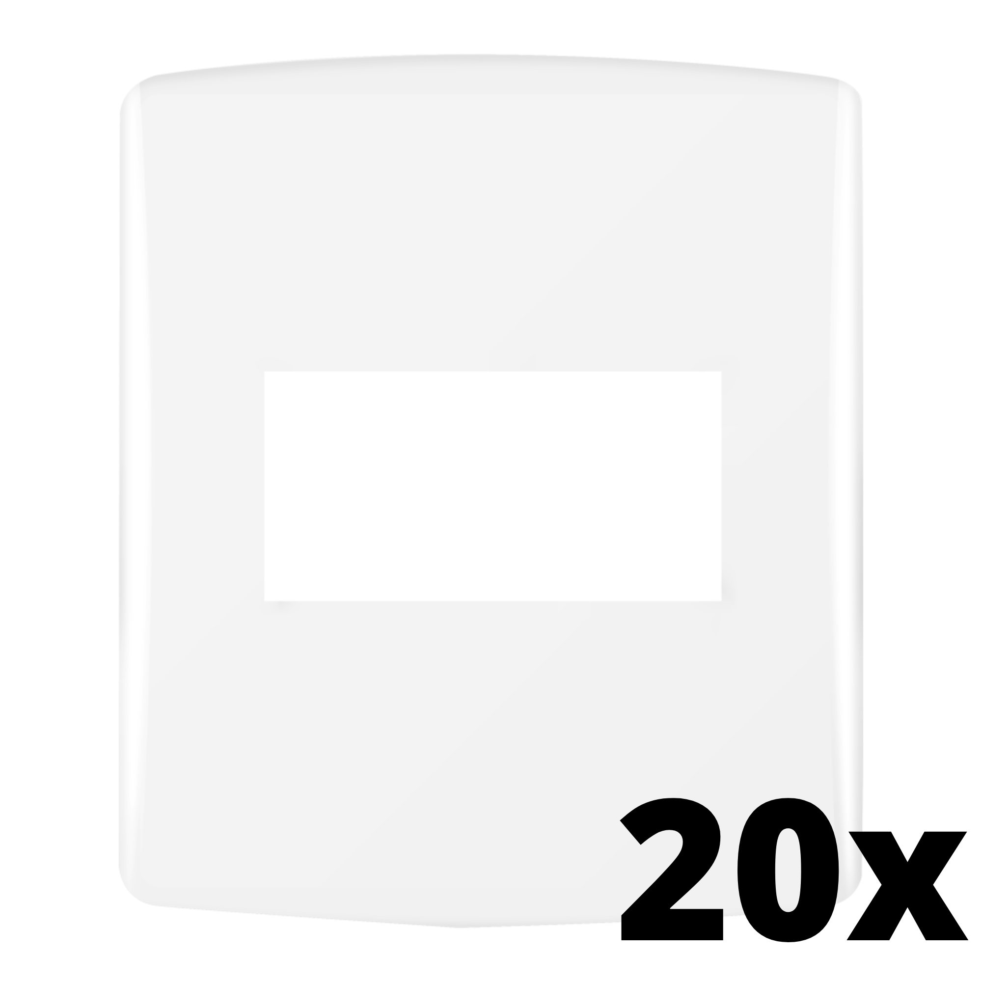 Kit 20 und Siena Fácil Placa 4x2 1 Seção