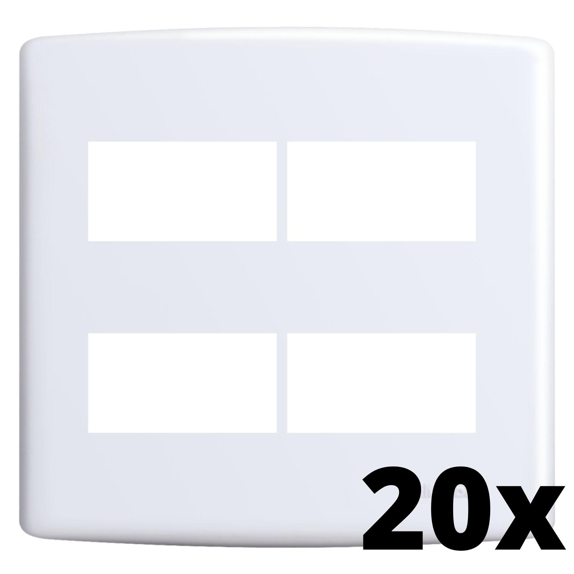 Kit 20 und Siena Placa 4x4 2 Seções + 2 Seções Distanciadas