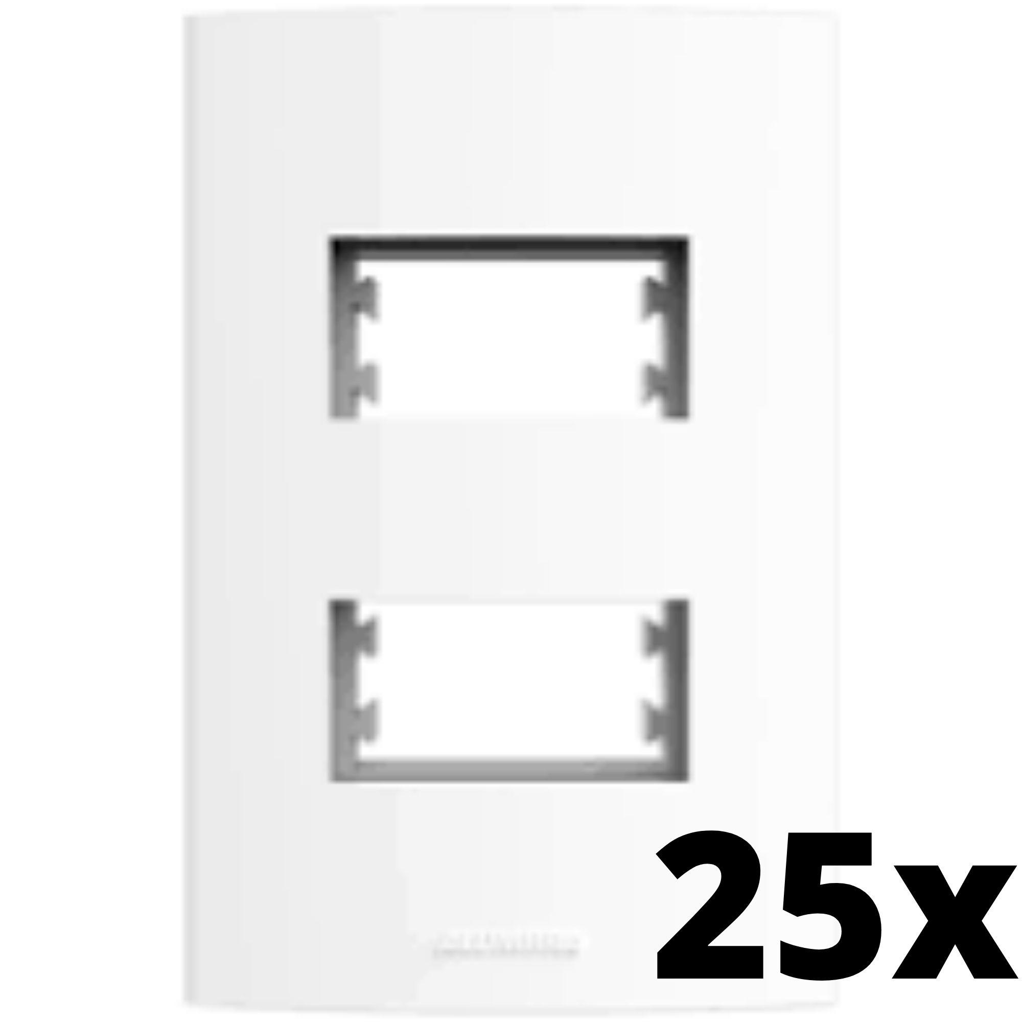 Kit 25 und Alumbra Bianco Pró Placa 4x2 2 Seções Distanciadas