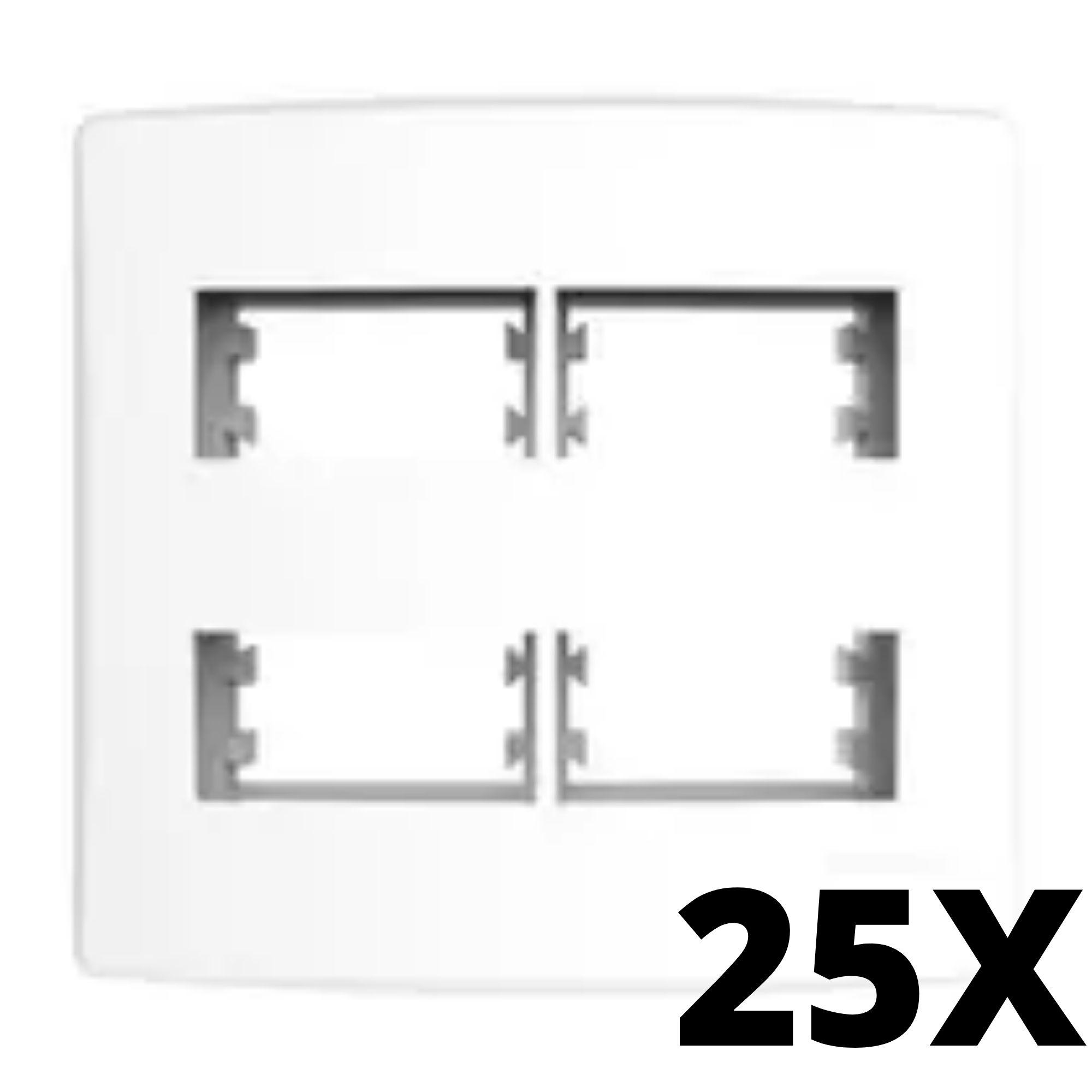 Kit 25 und Alumbra Bianco Pró Placa 4x4 2 Seções + 2 Seções