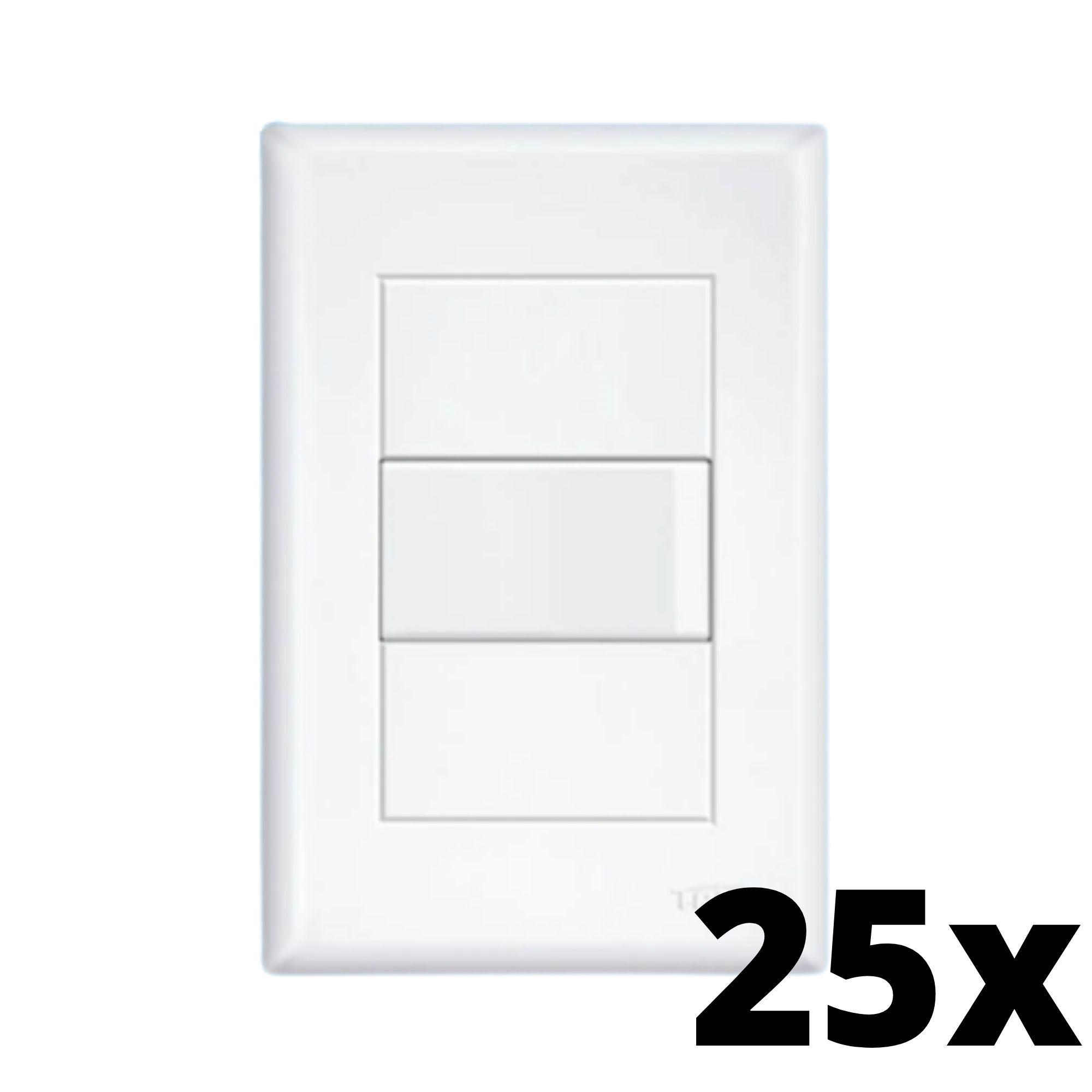 Kit 25 und Evidence 1 Seção de Interruptor Simples Com Placa