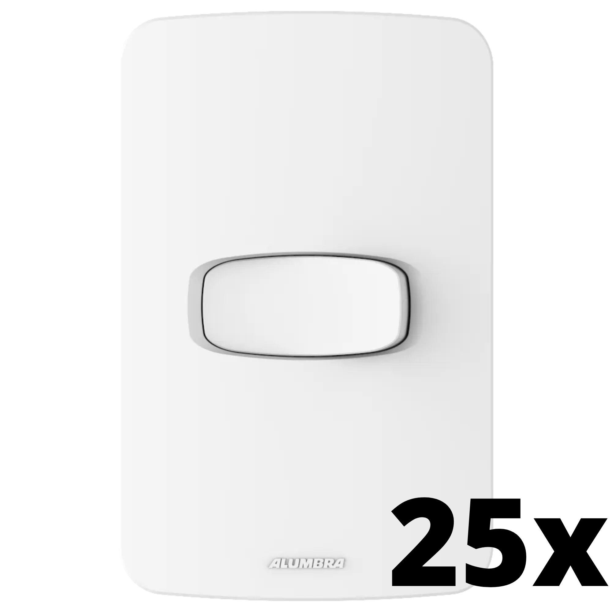 Kit 25 und Gracia 1 Seção de Interruptor Simples Com Placa