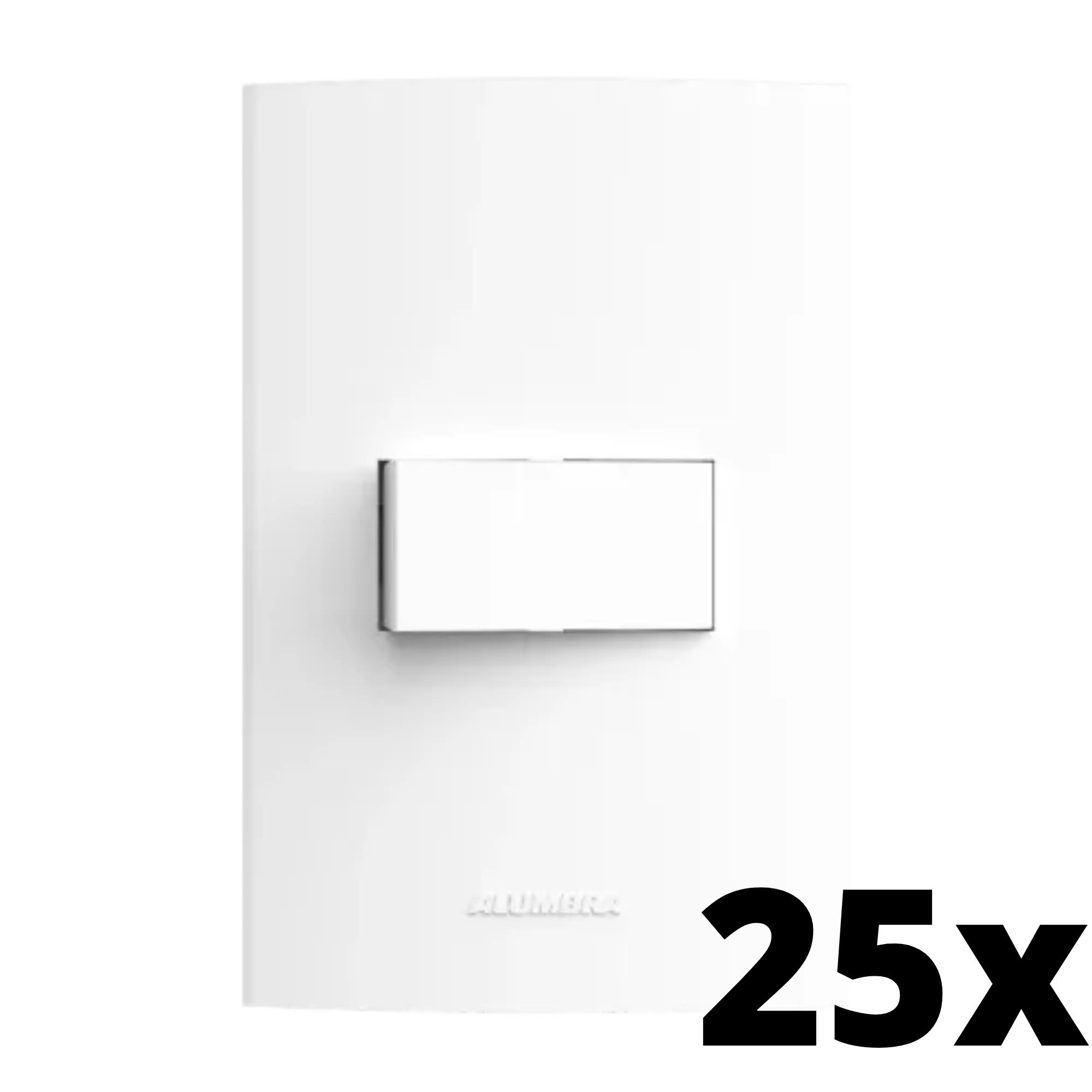 Kit 25 und Inova Pró 1 Seção de Interruptor Simples Com Placa