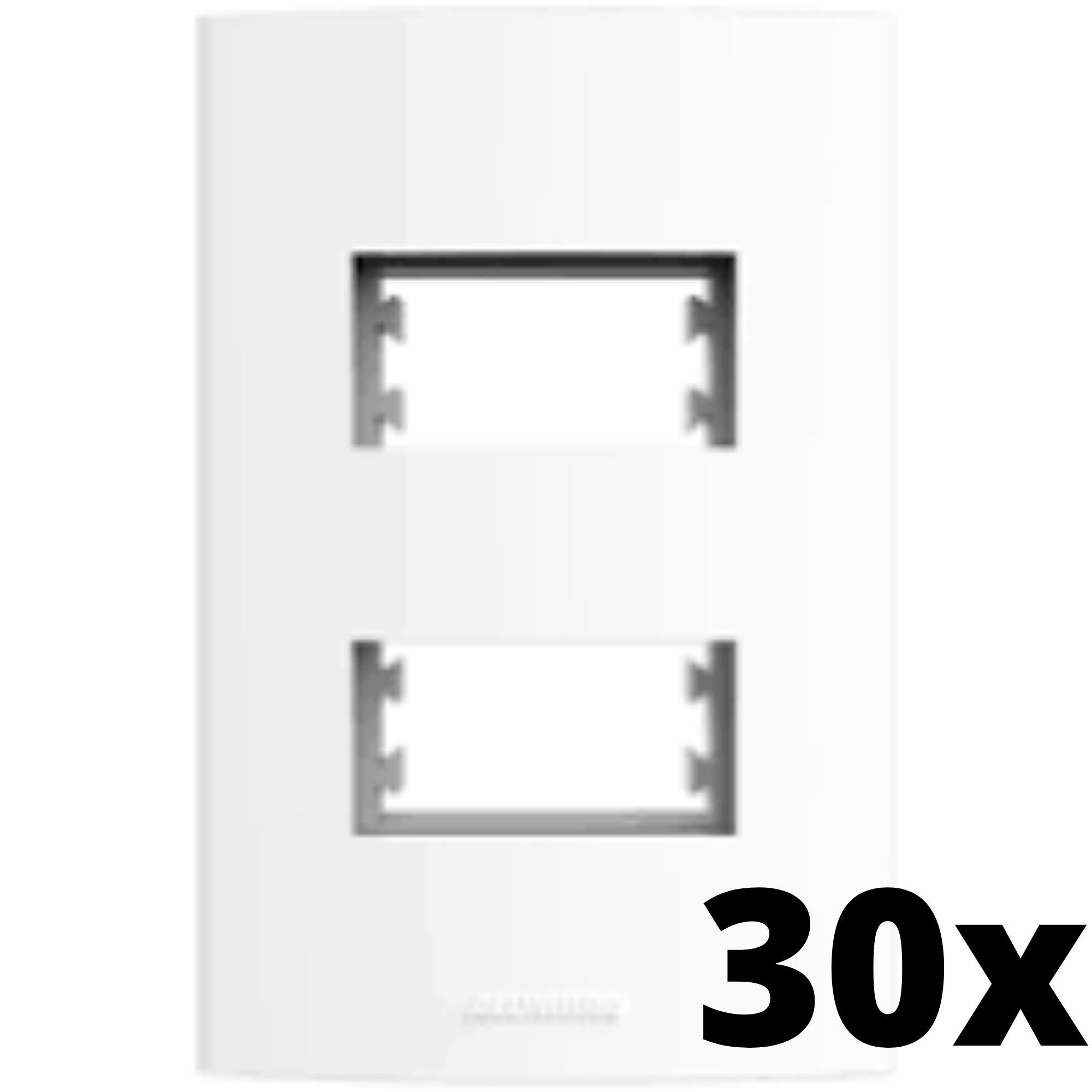 Kit 30 und Alumbra Bianco Pró Placa 4x2 2 Seções Distanciadas