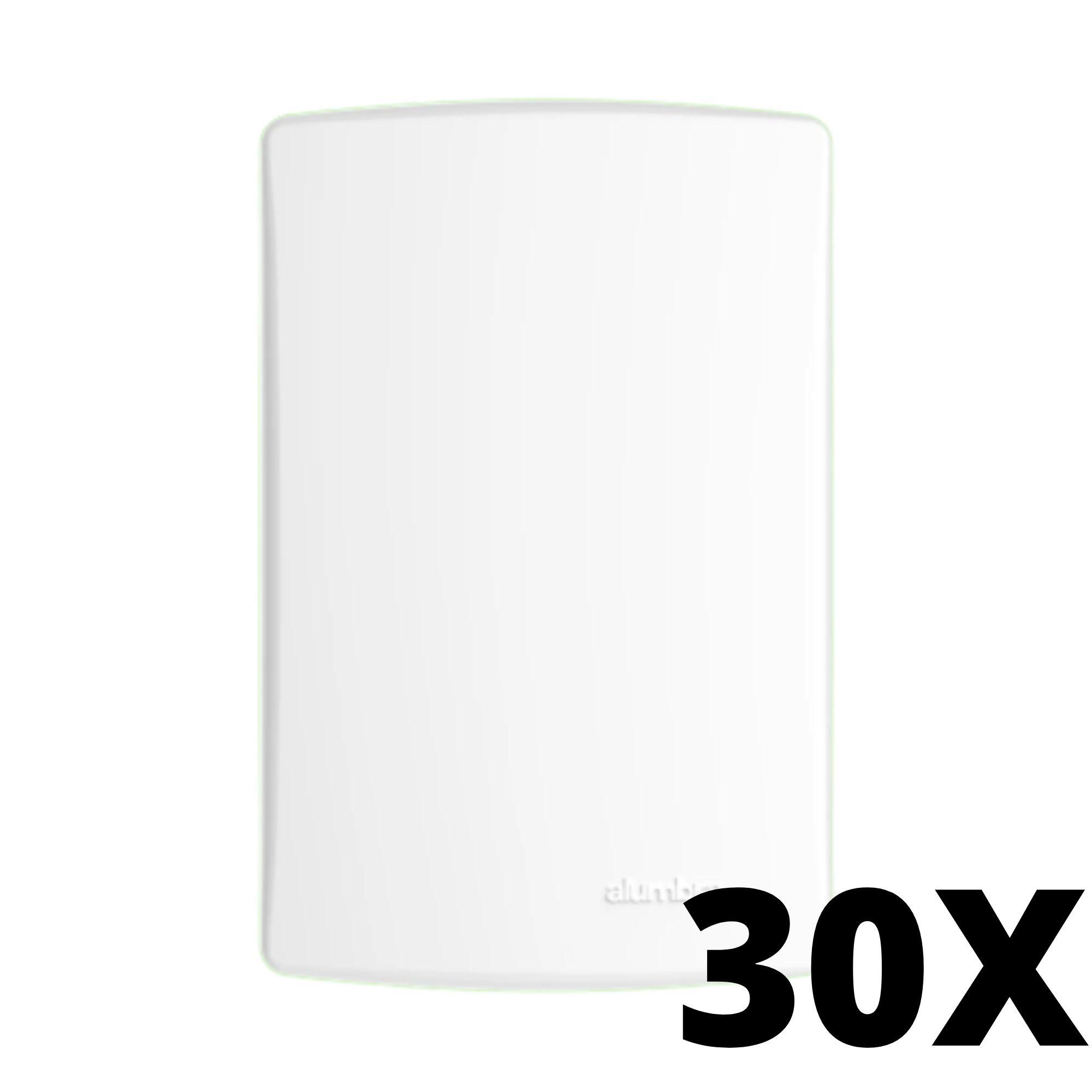 Kit 30 und Alumbra Bianco Pró Placa 4x2 Cega