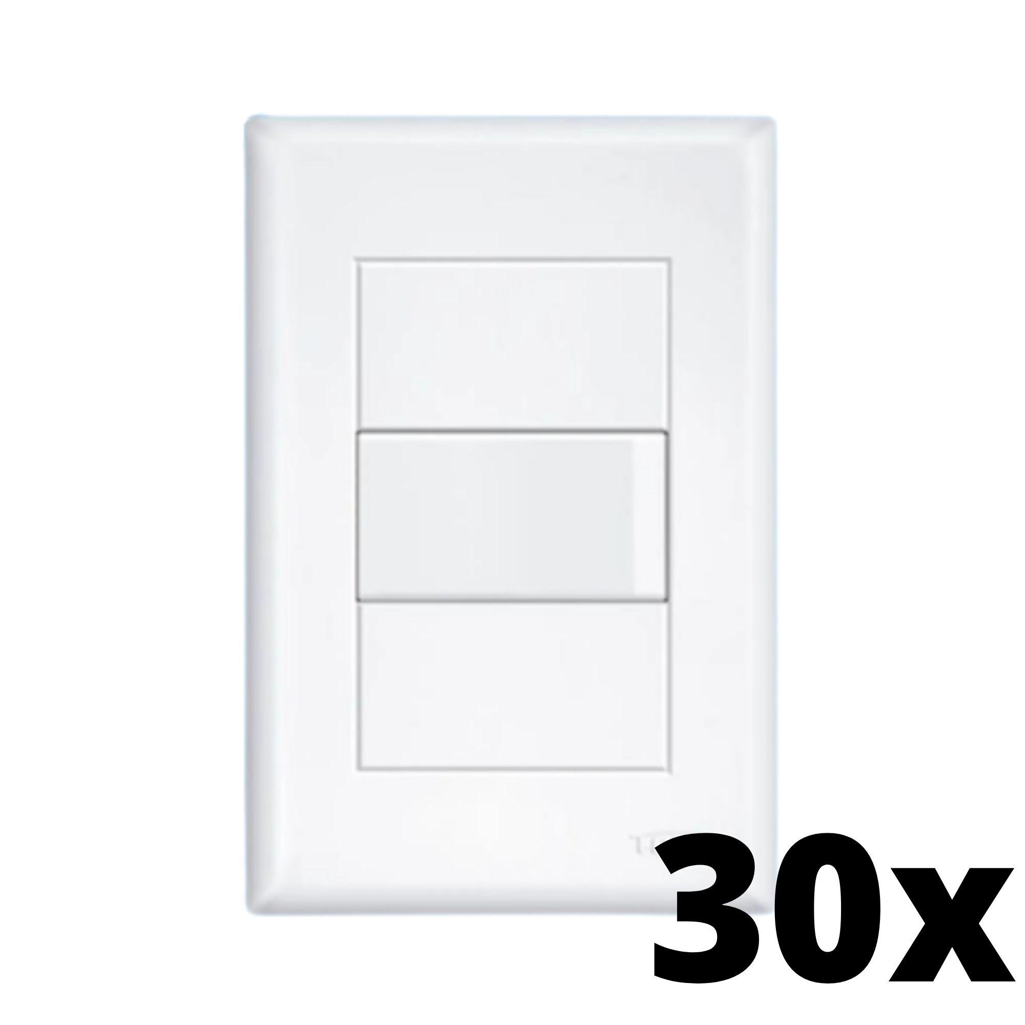 Kit 30 und Evidence 1 Seção de Interruptor Simples Com Placa