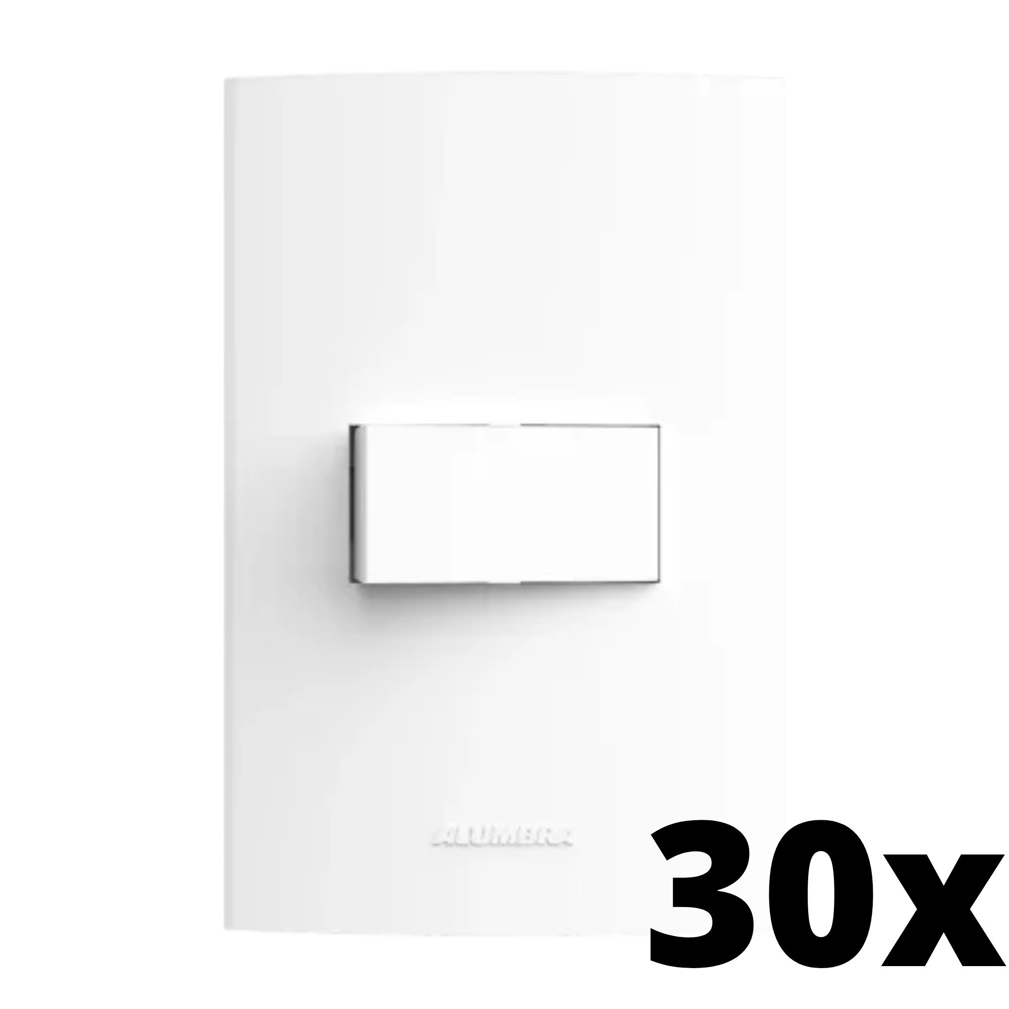 Kit 30 und Inova Pró 1 Seção de Interruptor Simples Com Placa