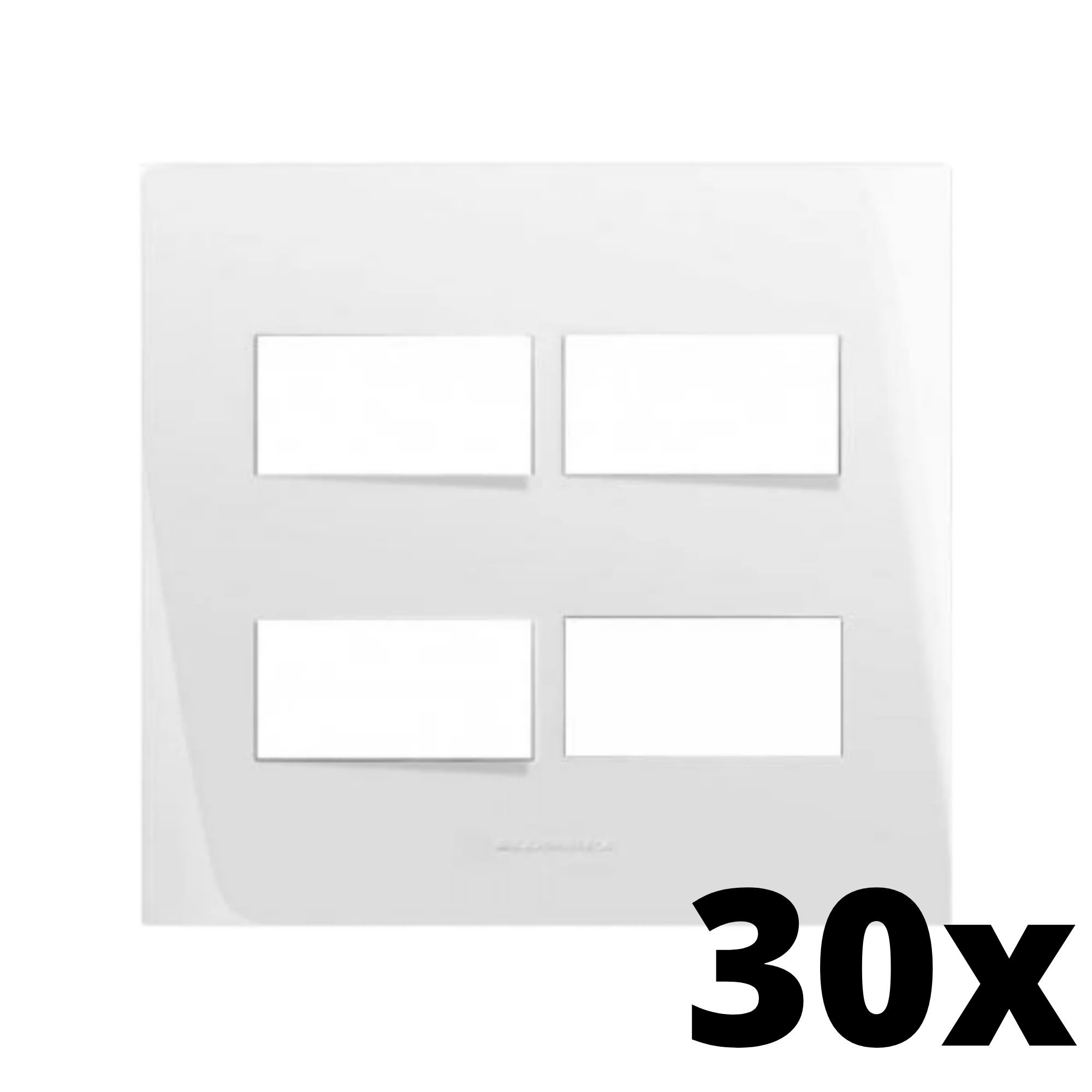 Kit 30 und Inova Pró Placa 4x4 2 Seções + 2 Seções