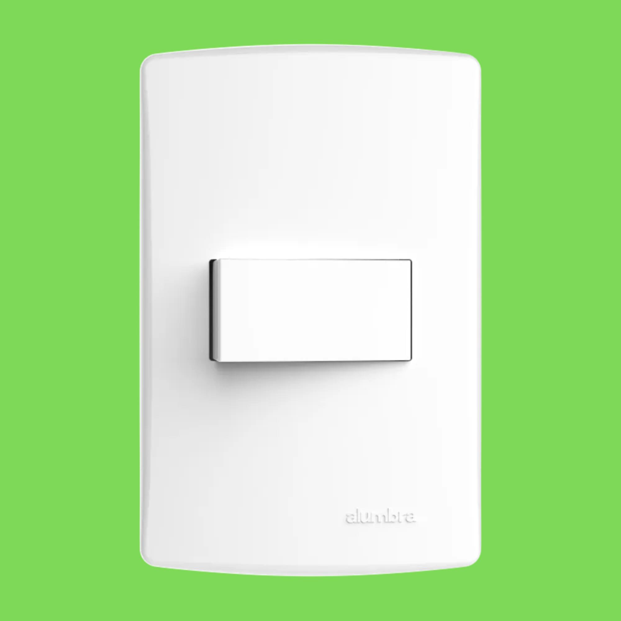 Kit 5 und Alumbra Bianco Pró 1 Seção de Interruptor Simples Com Placa