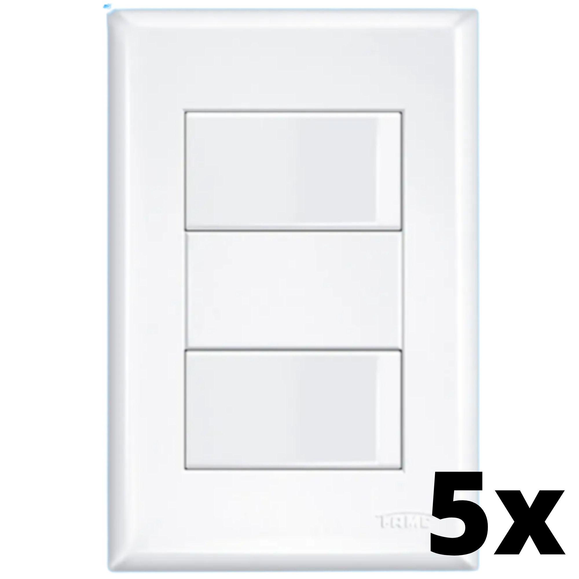 Kit 5 und Evidence 2 Seções de Interruptor Simples Com Placa