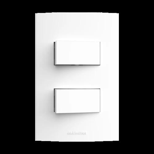 Kit 5 und Inova Pró 2 Seções de Interruptor Simples Com Placa