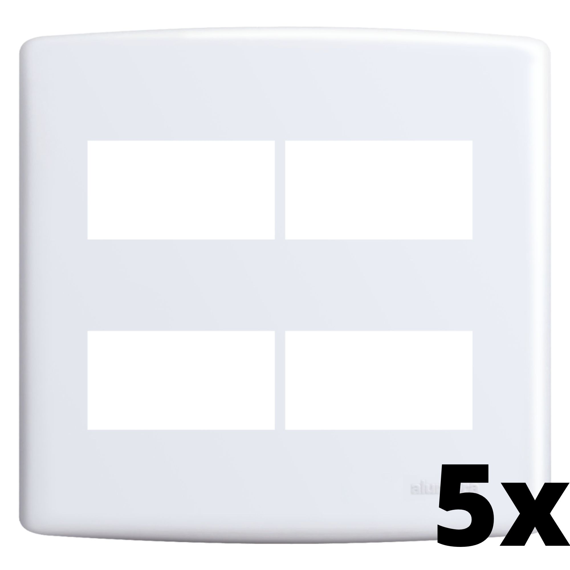 Kit 5 und Siena Placa 4x4 2 Seções + 2 Seções Distanciadas