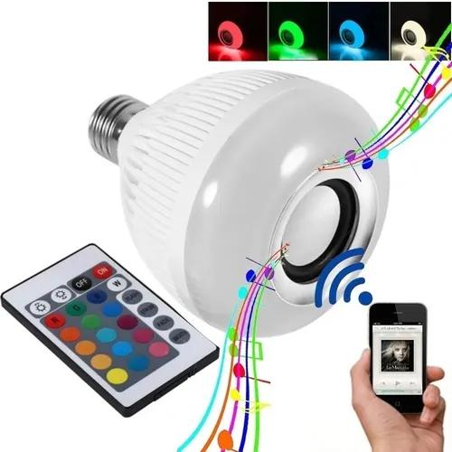 Lâmpada Bluetooth Music RGB Com Controle