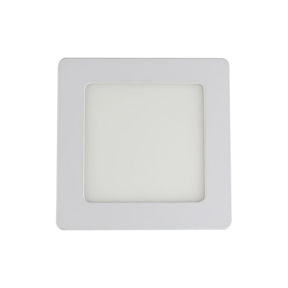 Led Painel Embutir 6w Quadrado 3000k Alumínio Branco