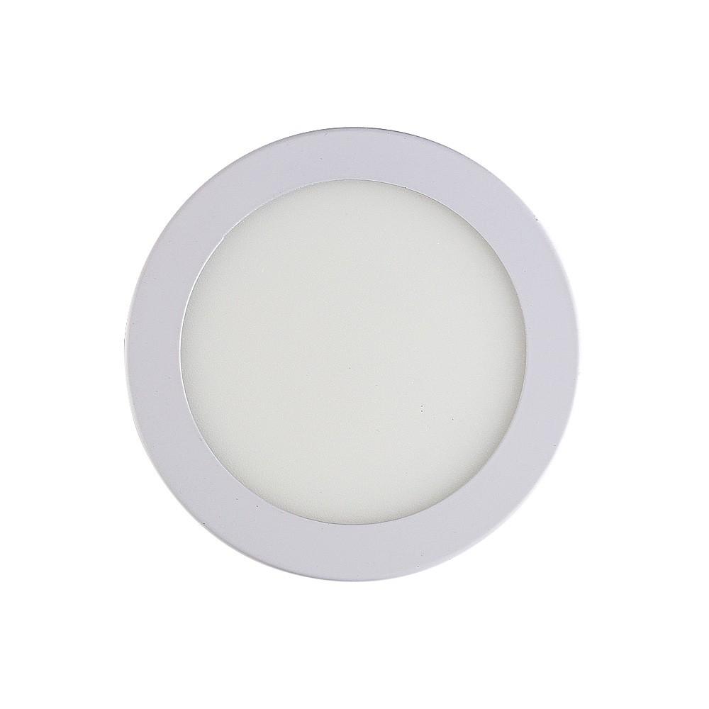 Led Painel Embutir 6w Redondo 6500k Alumínio Branco