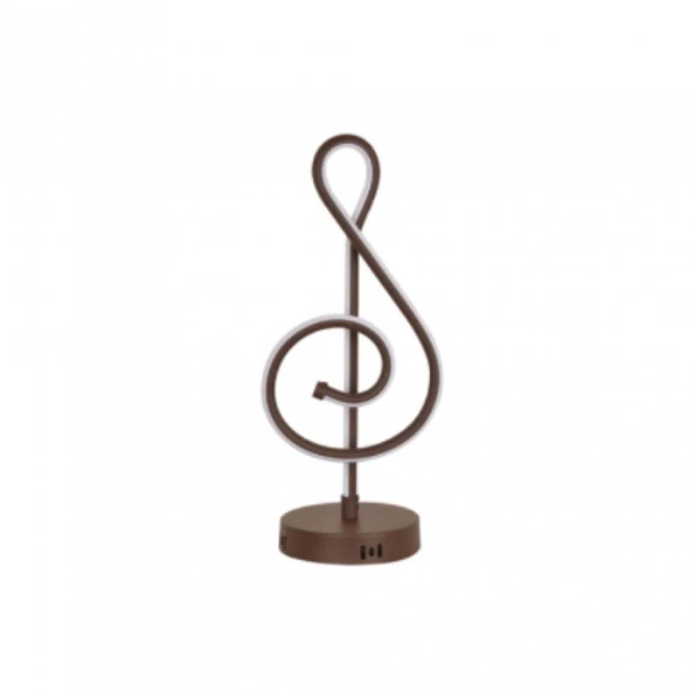 MBLED Abajour de Mesa Marrom Led Line Music 19w 3000k Bivolt