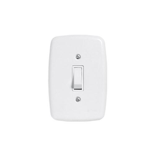 Pluzie 1 Seção de Interruptor Simples Com Placa
