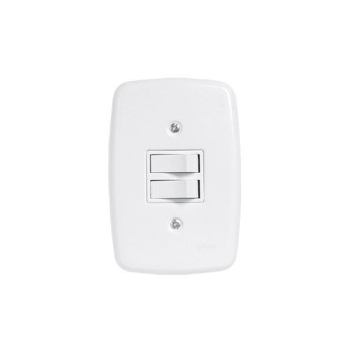 Pluzie 2 Seções de Interruptor Simples