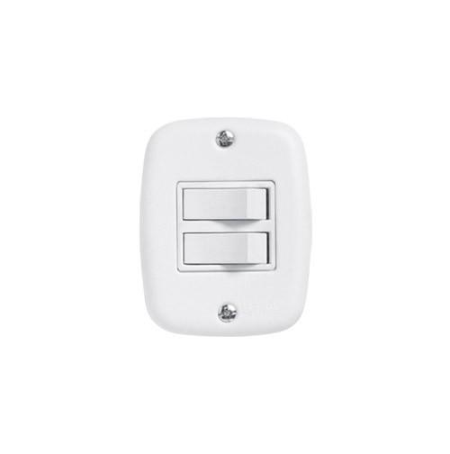 Pluzie Caixa Externa Com 2 Seções de Interruptor Simples