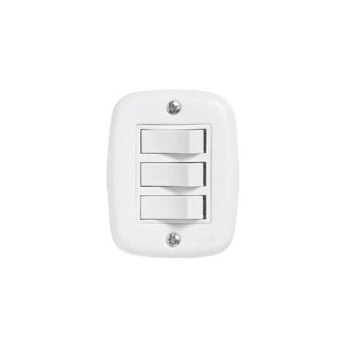 Pluzie Caixa Externa Com 3 Seções de Interruptor Simples