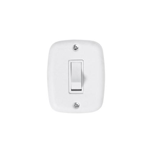 Pluzie Caixa Externa com 1 Seção de Interruptor Simples