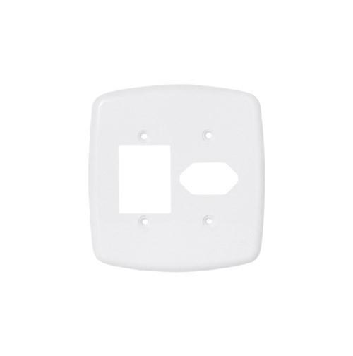 Pluzie Placa 4x4 3 Seções + 1 Seção Para Tomada