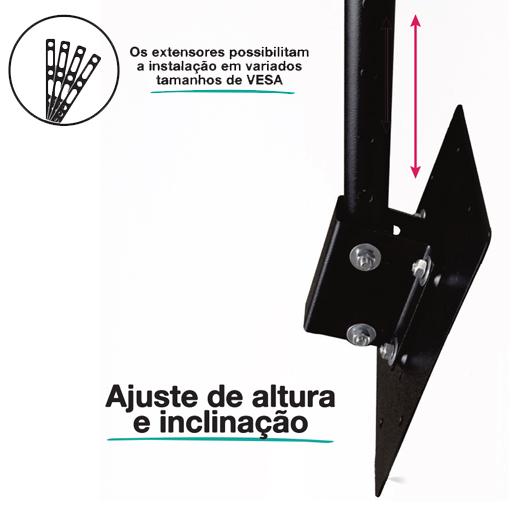 "Primetech Suporte Teto TV Articulado 32-65"""