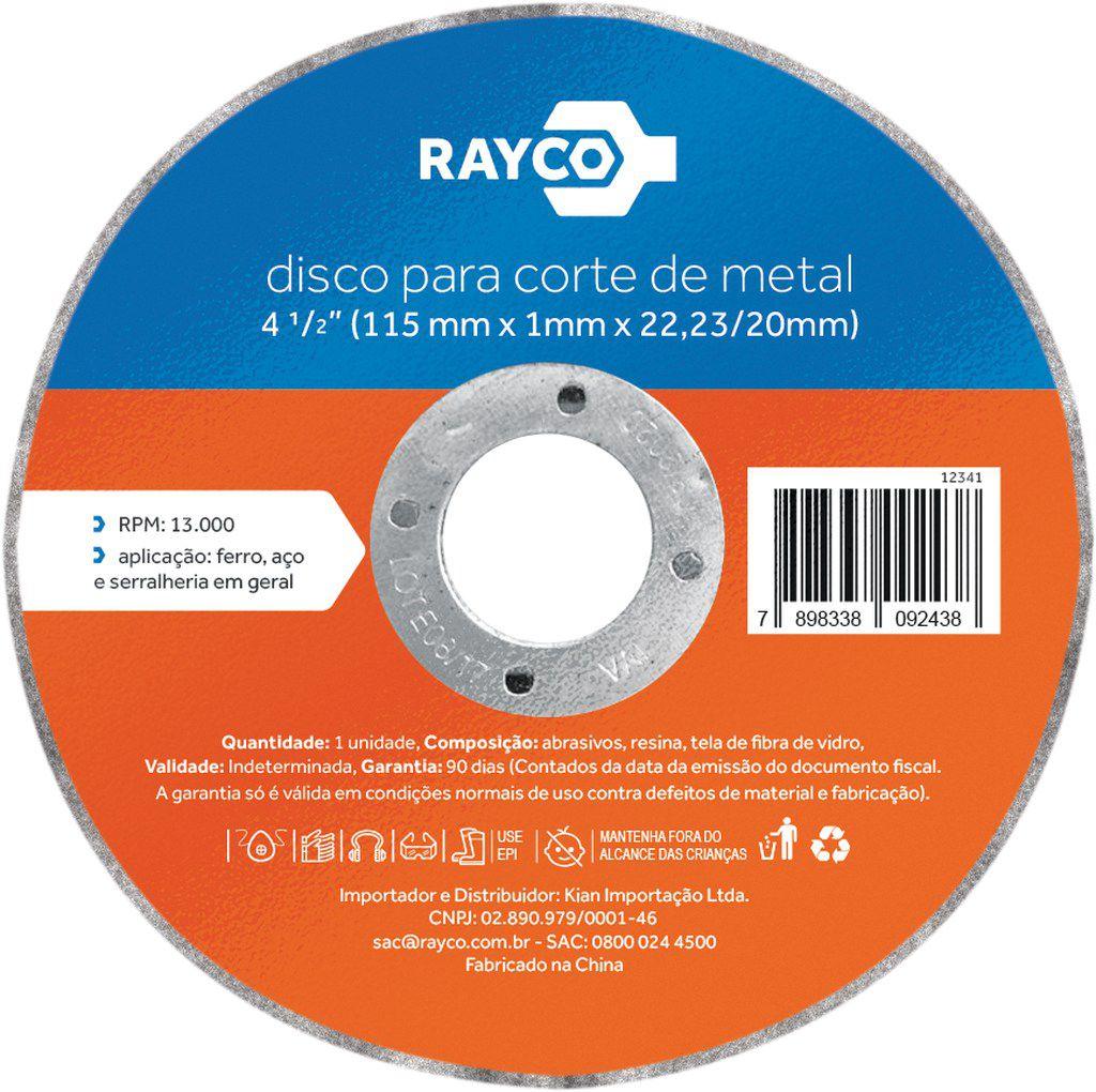 RAYCO DISCO CORTE METAL 4.1/2