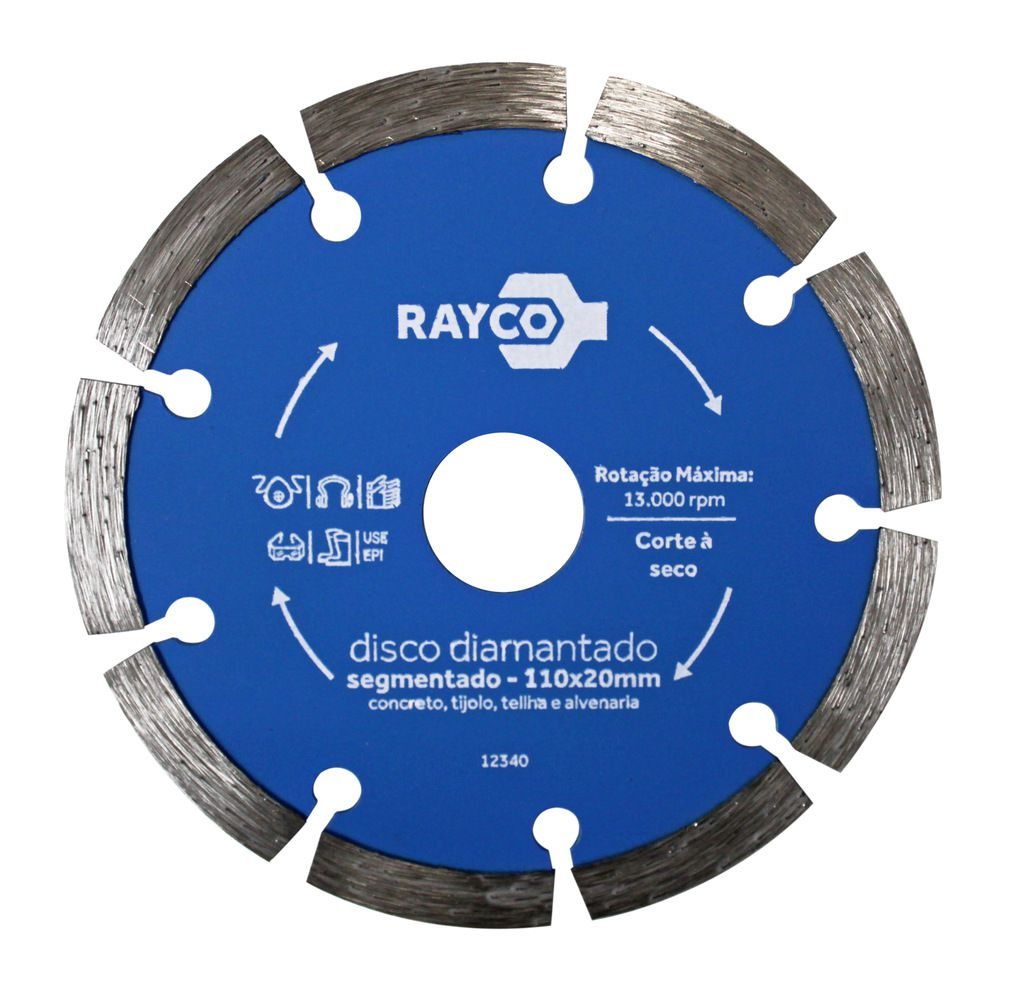 RAYCO DISCO DIAMANTADO SEGMENTADO 110MMX20MM