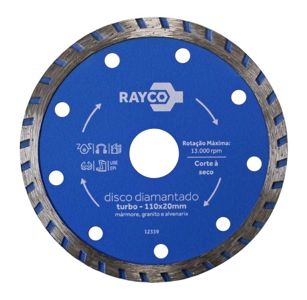 RAYCO DISCO DIAMANTADO TURBO 110MMX20MM