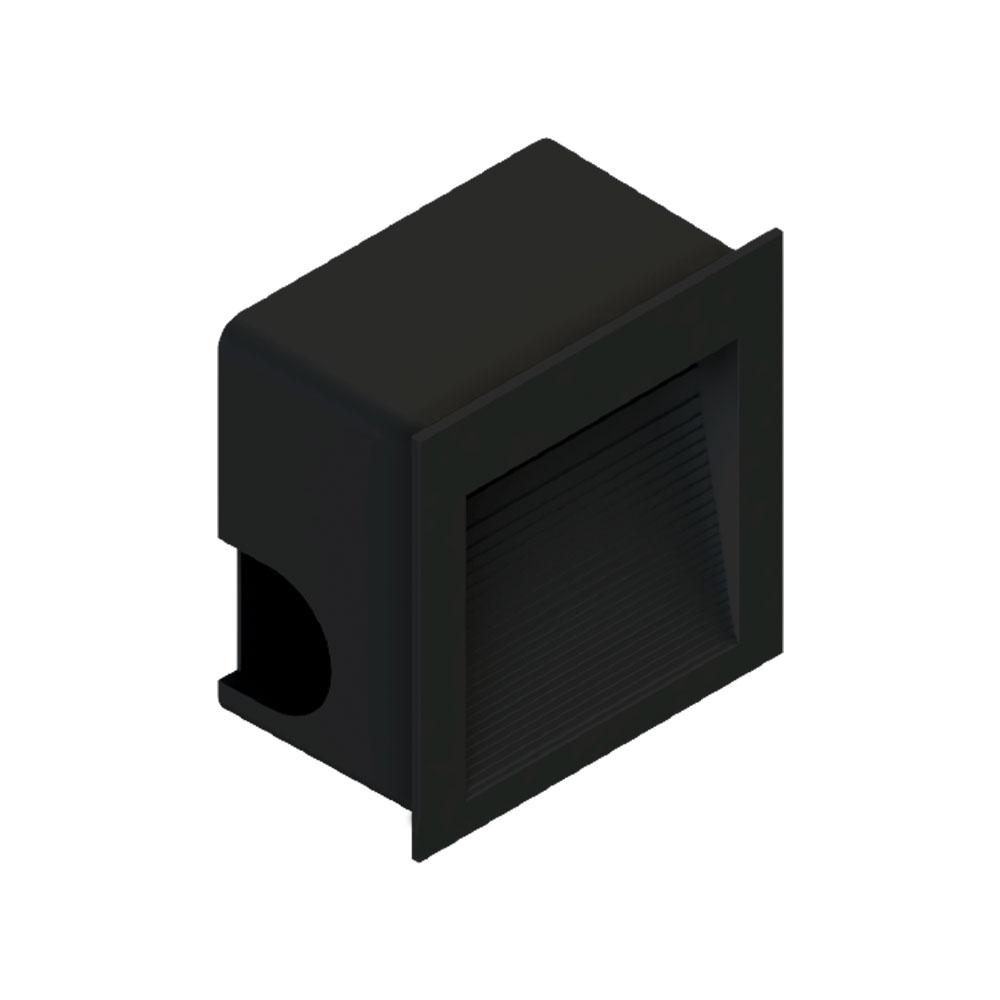 SaveEnergy Balizador Preto Embutir Quad 1.5w 3000k Bivolt