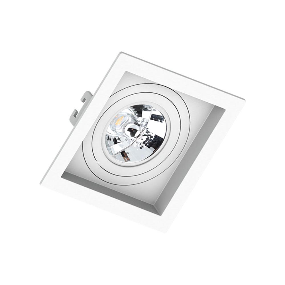 SaveEnergy Spot Branco Embutir Quadrado AR70 Recuada GU10