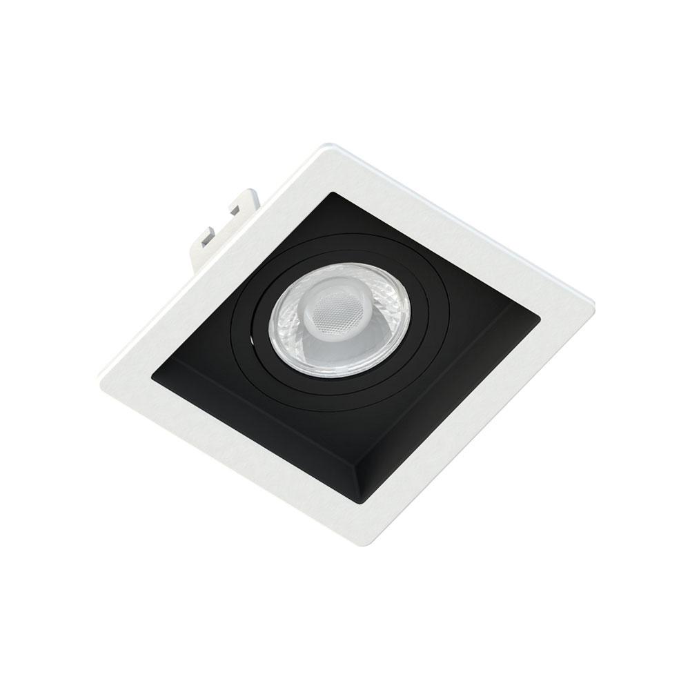 SaveEnergy Spot Branco Quad Embut Recuo Fundo Preto 1 x GU10