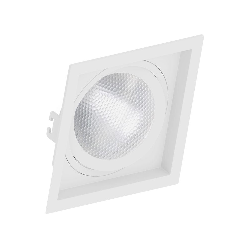 SaveEnergy Spot Branco Quadrado Embutido com Recuo Par30 E27